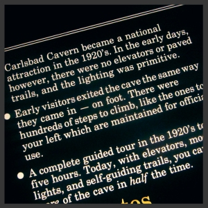 Ironic Carlsbad Caverns Plaque